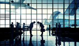 International Airport Business Travel Bow Down Concept Royalty Free Stock Image