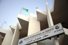 International airport in the city of Djibouti. Stock Image
