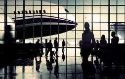 International Airport Communter Passenger Traveling Concept Royalty Free Stock Photos