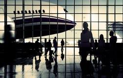 International Airport Communter Passenger Traveling Concept.  Royalty Free Stock Photos