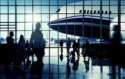 International Airport Communter Passenger Traveling Concept Stock Photos