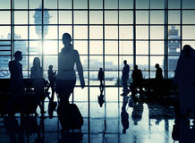 International Airport Communter Passenger Traveling Concept Royalty Free Stock Image