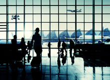 International Airport Commuter Passenger Traveling Concept Stock Photography