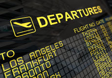 International Airport Departures Board Royalty Free Stock Images