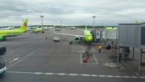 International airport Domodedovo stock footage