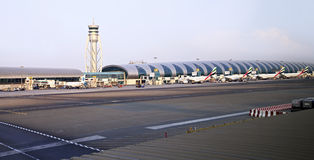 International Airport in Dubai. Royalty Free Stock Images
