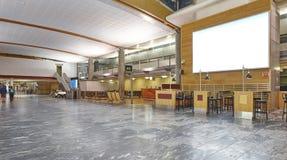 International airport indoor terminal. Departure area. Gates hal Royalty Free Stock Photo
