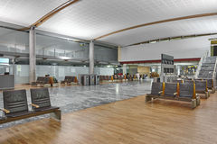 International airport interior terminal. Departure waiting area. Royalty Free Stock Image