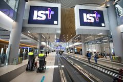 International Airport in Istanbul stock photo