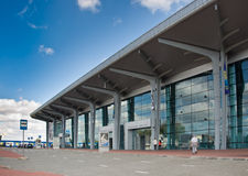 International Airport Kharkov, panorama Royalty Free Stock Photography