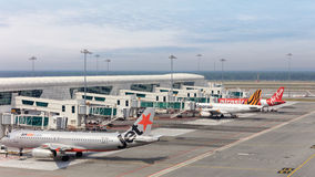 International airport of Kuala Lumpur royalty free stock photos