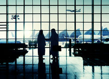 International Airport Middle Eastern Ethnicity Handshake Concept Stock Image