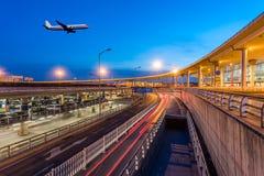 International Airport Terminal T3 night Royalty Free Stock Photo