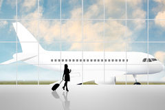 International Airport Terminal Stock Image