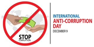 International Anti-Corruption Day. On December 9 Background Stock Photos
