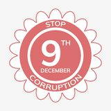 International anti corruption day Stock Image