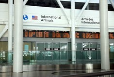 International Arrivals Royalty Free Stock Photos