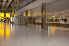 International Arrivals. Airport International Night Arrivals Hall Royalty Free Stock Photos