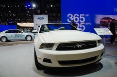 International auto-show in Chicago, Ford Mustang Stock Photo