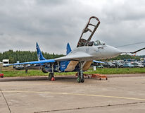 International aviation and space salon MAKS in Zhukovsky, Russia. ZHUKOVSKY, RUSSIA - AUGUST 30: a Demonstration of the aircraft at the International aviation Royalty Free Stock Photos