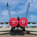 International aviation and space salon MAKS in Zhukovsky, Russia Royalty Free Stock Image