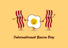 International Bacon Day vector Stock Images