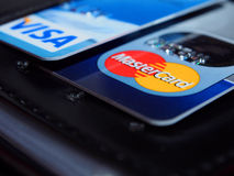 International bank cards Stock Images