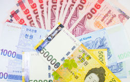 International banknote Thai, Korea, Australia Stock Image
