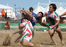 INTERNATIONAL BEACH RUGBY - ITALY Royalty Free Stock Photography