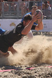 INTERNATIONAL BEACH RUGBY - NEW ZEALAND royalty free stock image