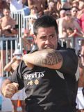 INTERNATIONAL BEACH RUGBY - NEW ZEALAND Royalty Free Stock Images