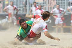 International Beach Rugby Tournament Stock Photo
