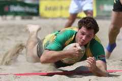 International Beach Rugby Tournament Stock Image