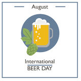 International Beer Day, August Royalty Free Stock Photos