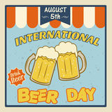 International beer day poster Stock Image
