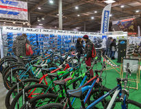 International Bicycle Exhibition VELOBIKE 2016 in Kiev, Ukraine Royalty Free Stock Images