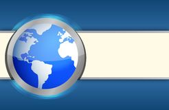 International blue business globe background Royalty Free Stock Images