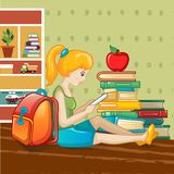 International book day concept background, cartoon style. International book day concept background. Cartoon illustration of international book day vector royalty free illustration