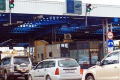 The international border checkpoint Bruzgi. Royalty Free Stock Photo