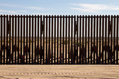 International Border fence. View through the International border fence between California and Mexico stock photos
