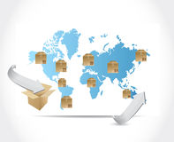 International box shipping illustration design Royalty Free Stock Images