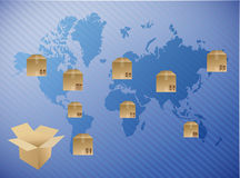 International box shipping illustration design Stock Photo
