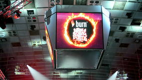 International break-dance show Burn Battle School  Royalty Free Stock Image