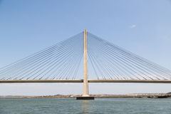 International Bridge, linking Portugal and Spain over the Guadiana River Royalty Free Stock Photo