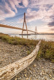International bridge over the River Guadiana, Ayamonte, Spain Royalty Free Stock Photo