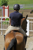 INTERNATIONAL BROMONT. BROMONT-CANADA JULY 29: Unknown rider on a horse during 2011, INTERNATIONAL BROMONT on July 29, 2011 At the Equestrian 1976 Montreal Stock Photography