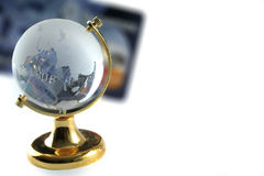 International Business. Concept globe and credit card Royalty Free Stock Image