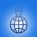 The international business. This image - a symbol (the big business Royalty Free Illustration
