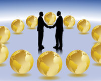 International business. Two business people in international business Stock Photo