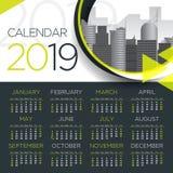 2019 International Business Calendar - Vector Template stock photography